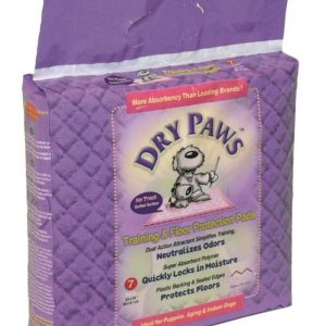 Midwest 7-Piece Dry Paws Training and Floor Protection Pad Set Purple 58 x 61 centimeter