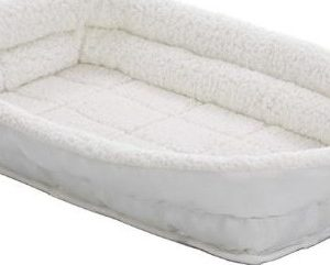 MidWest QuietTime Deluxe Fleece Double Bolster Crate Bed 18""
