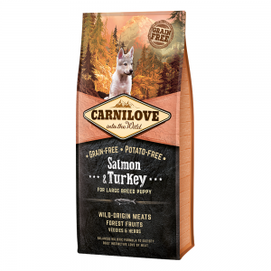 CARNILOVE SALMON & TURKEY FOR LARGE BREED PUPPIES 12KG