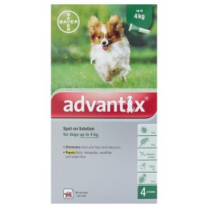 Advantix – For Dogs below 4kilo (4pipettes) - petsonclick.ae